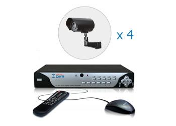 Комплект — 4 уличные цветные камеры 700 ТВЛ, видеорегистратор 4 канала
