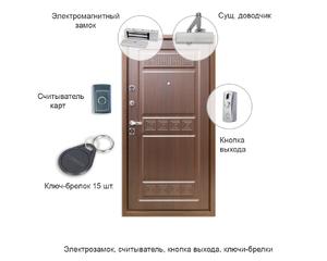 Установка СКУД - электрозамок, считыватель, ключи