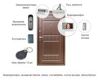 Установка домофона с замком - вызывная панель, видеодомофон, замок, считыватель, кнопка выхода, ключи
